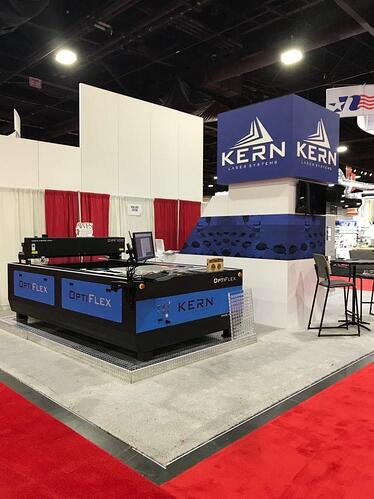 Kern Laser Systems trade show booth